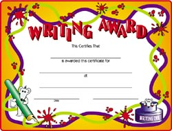 Award certificate for writing images certificate design and template award certificate for writing gallery certificate design and award certificate for writing choice image certificate design yadclub Images